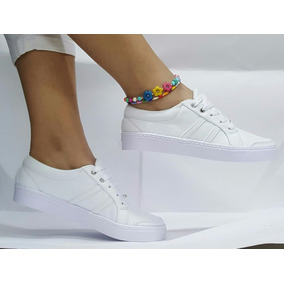 Calzado Casual Deportivo Para Dama Elegante Blanco De Moda