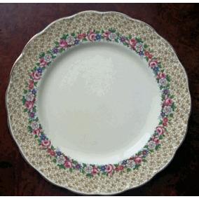 Prato Raso Em Porcelana Inglesa - Grindley England -25 Cm