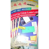 Avery Etiquetas Transparentes 2660 Idem 5160 U.s.a.