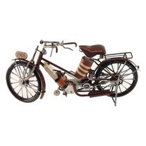 Miniatura De Moto Antiga 1905 Marrom Em Metal - 30x1 S/juros