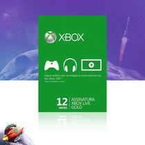 Xbox Live Gold Brasil Br Cartão 12 Meses One 360 Digital