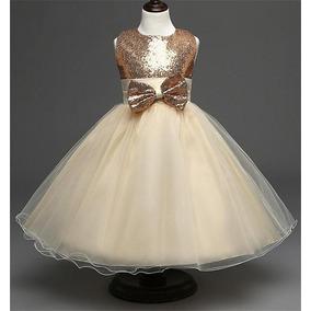 Vestido Infantil Paetê Brilho Casamento Daminha Aniversário!