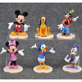 Coleção 6 Bonecos Da Disney Turma Do Mickey
