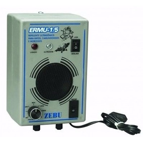 Espanta Rato E Morcego Eletrônico 150m² Zebu Ermu 1/5 C/ Nf
