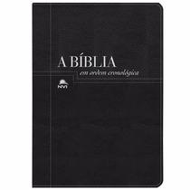 Bíblia Ordem Cronológica Preta Negra Estudo Frete Grátis