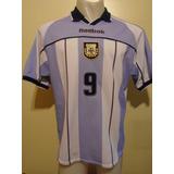 Camiseta Argentina Mundial Sub 17 2001 Reebok Tevez #9 T. L