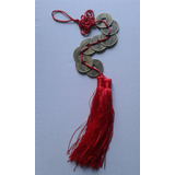 Pêndulo Moedas Chinesa Feng Shui Talismã, Sorte, Fortuna