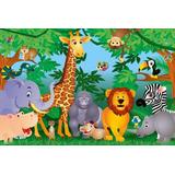Painel Decorativo Festa Infantil Safari Zoo Animais (mod3)