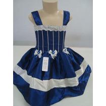 Lindo Vestido Tafetá 1 Ano! Frete Grátis! Modelo 022.