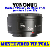 Objetivo Yongnuo Yn 50mm F/1.8 (para Canon Ef)