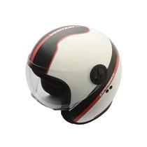 Casco Vertigo Experience Retro Abierto Con Visor Moto Delta
