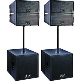 Line Array Sistema De Bafle Aereo Electro Voix 4800 Watts $