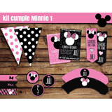 Kit Cumple Imprimible Minnie Especial + Candy Bar