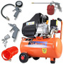 Compressor Ar Portátil 2,5hp 220v Vc-25 + Kit Pintura 573049