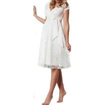 Vestido Gestante Casamento Civil Renda Soltinho Noiva Vrm 84