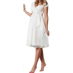 Vestido Gestante Casamento Civil Renda Soltinho Noiva Vrm84
