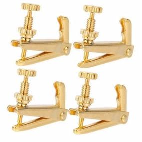 Micro Afinador Para Violino 4/4, Dourado Kit Com 4 Peças