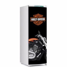 Adesivo De Geladeira Harley Davidson Porta Inteira