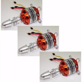 3 Motores Elétricos Brushless Turnigy D 2826/10 1400kv