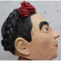 Frida La Pintora Mascara Latex Hallowen Dia De Muertos