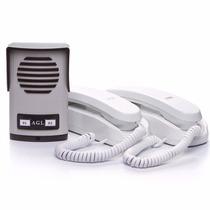 Porteiro Eletrônico Agl Coletivo 2 Pontos + 02 Monofones