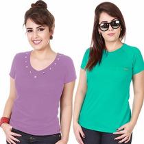 Roupa Feminina Blusa Regata Camiseta Baby Look T-shirt Cores