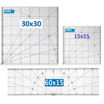 Kti De Reguas P/ Patchwork 60x15 , 30x30 , 15x15