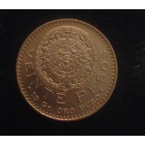 Moneda De Oro 20 Pesos Azteca
