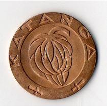 Katanga 1 Franc 1961 Cobre Sin Circular Krause 1