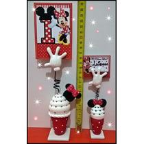 Souvenirs Mickey Minnie Portamensaje Primer Año Personalizad