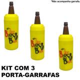 Porta Garrafa Cerveja Litrao Cervegela Am.1l Kit 3 Pecas Bar