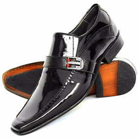 Sapato Social Couro Envernizado Masculino Estilo Italiano