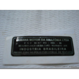 Etiqueta Original Yamaha Brasil Quadro Rd350 Dt200 Tenere600