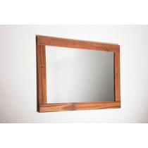 Espelho Moldura Rústica + Madeira Maciça Rústica