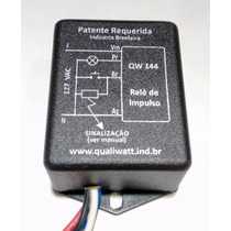 Qw144 - Relé De Impulso Eletrônico Sinaliza Carga Ligada127v
