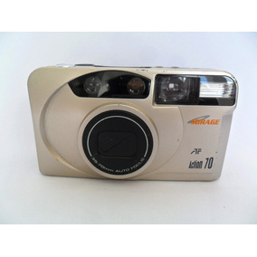 Câmera Máquina Fotográfica Antiga Mirage Af Action 70 Coleçã