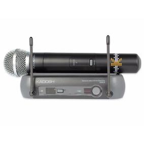 Sistema Microfone Mao Bastão Sem Fio Bivolt Uhf Kadosh K581b
