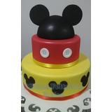 Bolo Cenográfico Mickey 2 Andares - (fake Falso Decoração)