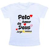 Camiseta Baby Look Feminina - Jorge E Mateus 1