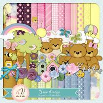 Kit Imprimible Ositos Nena 10 Imagenes Clipart
