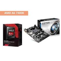 Kit Gamer Processador Amd A6 7400k + Asrock Fm2a55m-hd+