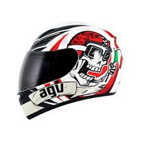 Capacete Agv K3 Rider To The Bone Vermelho/branco 59/60 Rs1