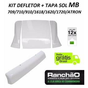 Defletor + Tapa Sol Caminhão Mb 709 710 1618 1620 1720 Atron