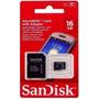 Cartao Memoria Micro Sd Sandisk 16g Adaptador