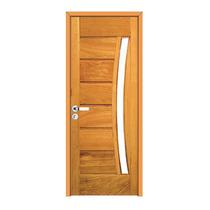 Kit Porta De Madeira Montada 414 - 2,10m X 70cm - Angelim