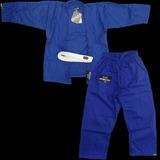 Kimono Infantil De Jiu Jitsu Rip Dorey Azul + Faixa Branca