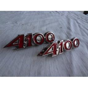 Emblemas Opala 4100 Peça Epoca Em Metal Raro