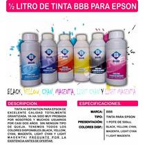 Tinta Bbb Epson Selladas 1/2 Litro