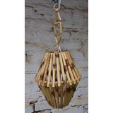 Lustre De Bambu Tipo Balão