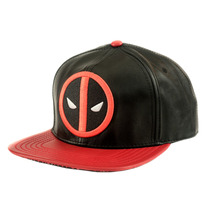 Gorra Deadpool Snapback Cap Mascara De Latex Marvel Logo